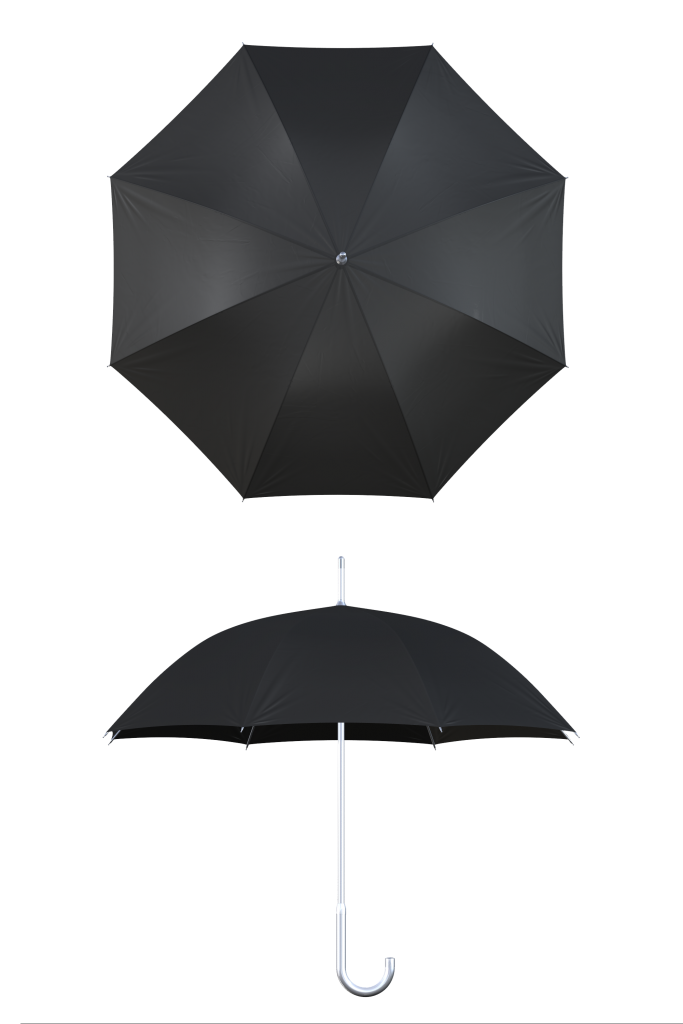 aluminum frame black umbrella