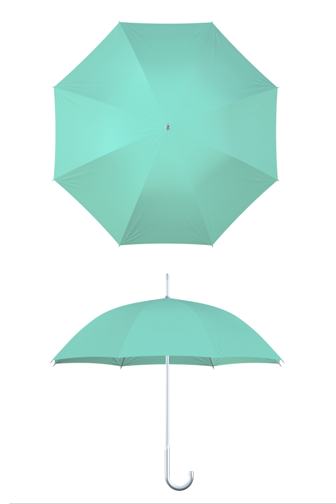 aluminum frame mint umbrella
