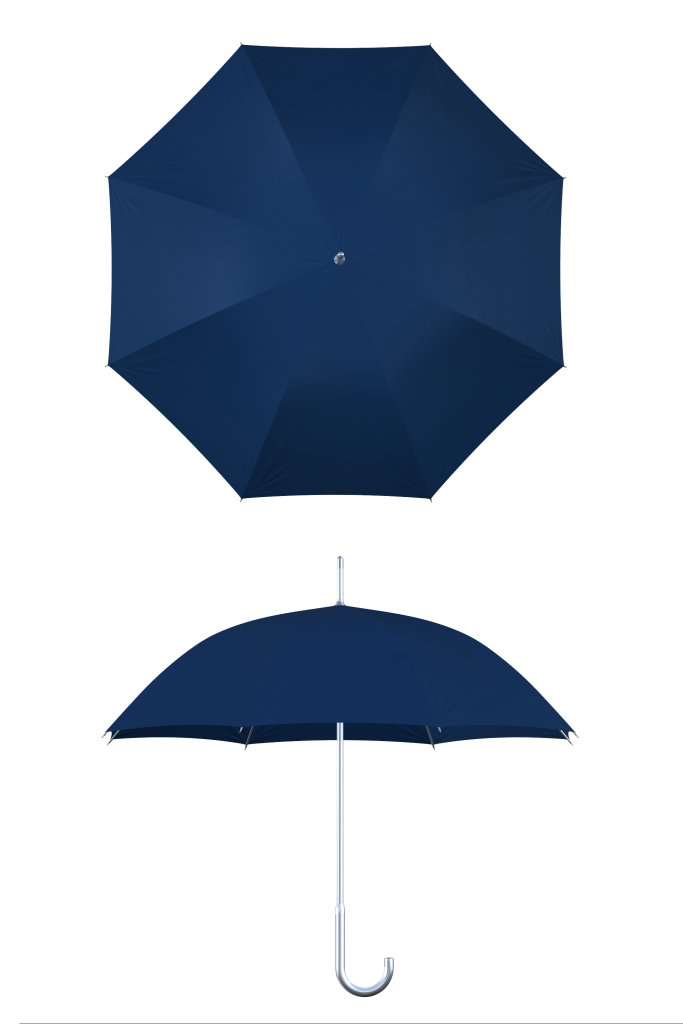 aluminum frame navy umbrella