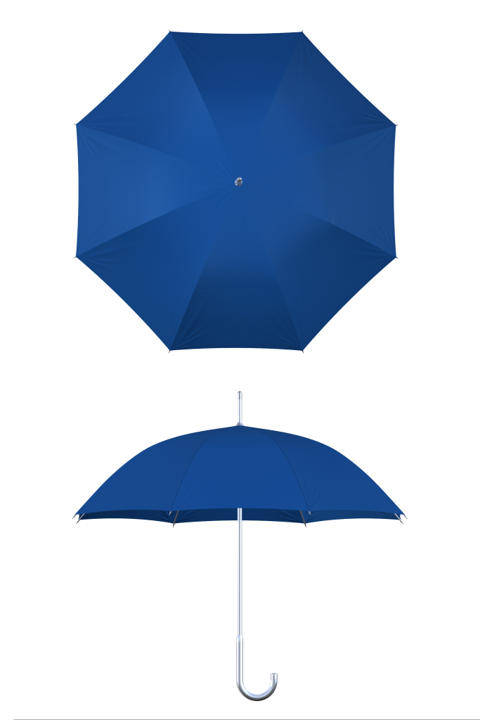 Aluminum frame royal blue umbrella