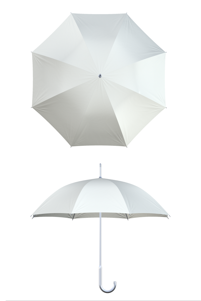 Aluminum frame white umbrella