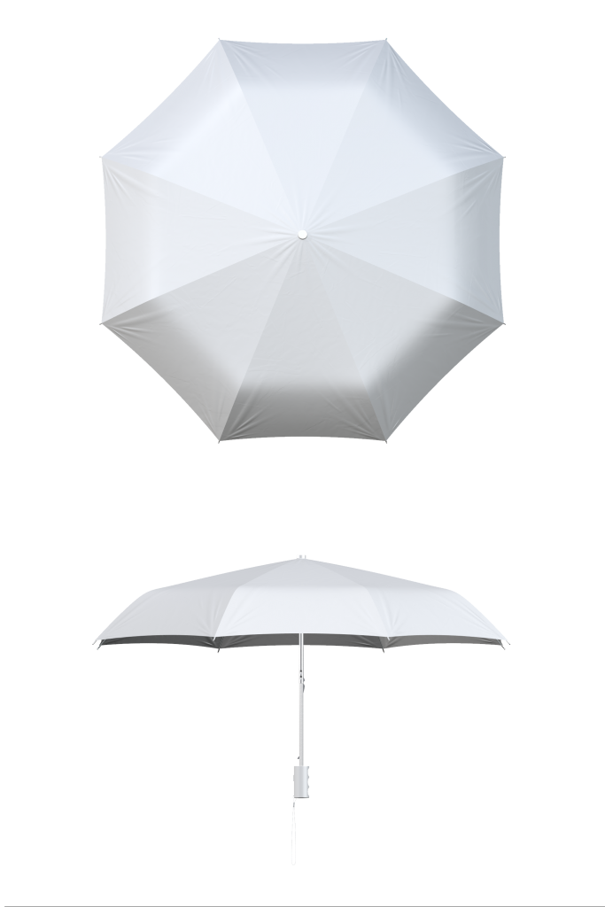 White Compact Umbrella