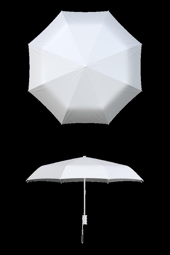 White Compact Umbrella