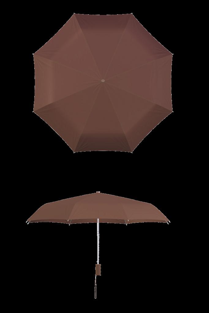 compact frame brown umbrella