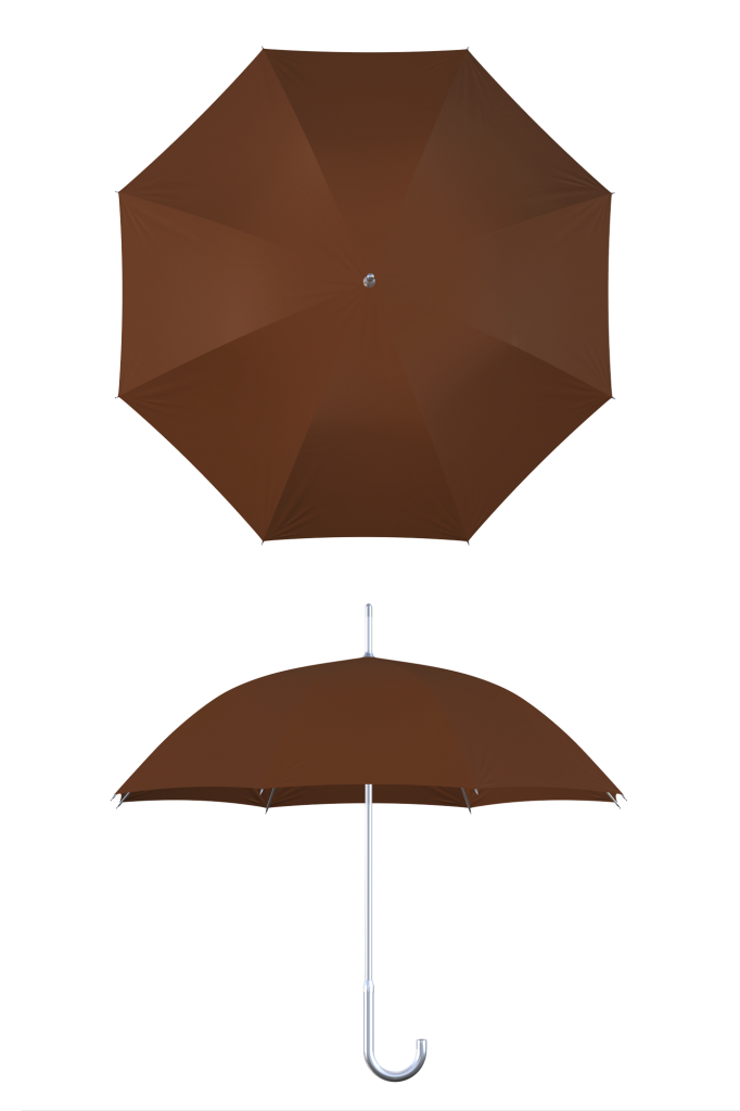 aluminum frame brown umbrella