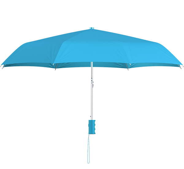compact frame cyan umbrella side view