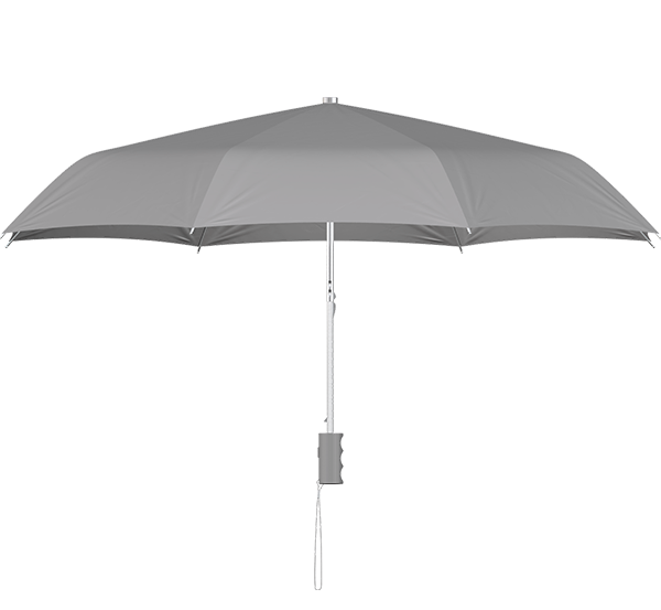 compact frame gray umbrella side view
