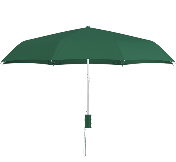 compact frame hunter green umbrella side view