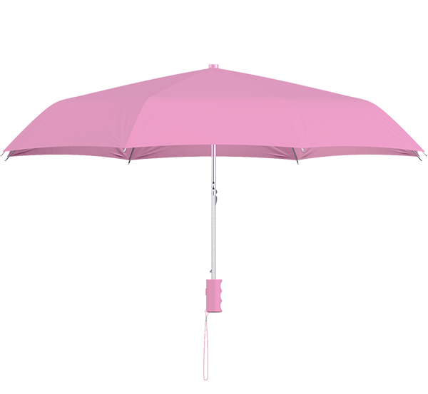 compact frame pink umbrella side view