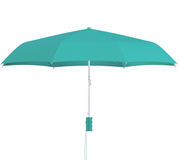 compact frame teal umbrella side view