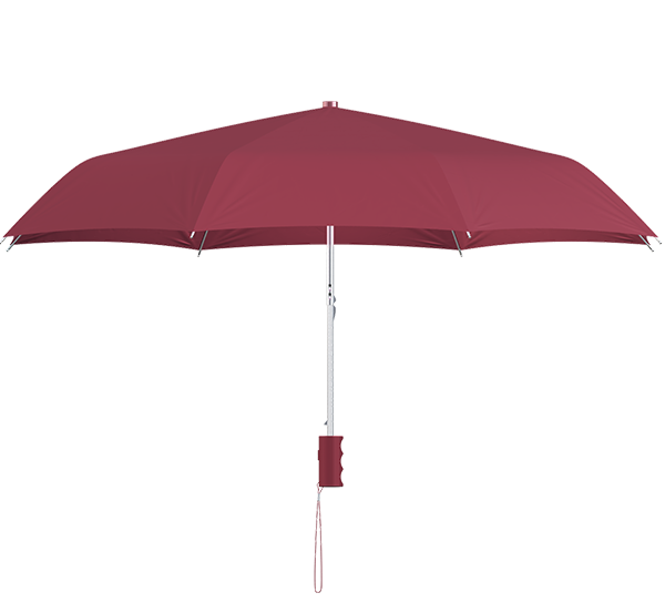 compact frame wine umbrella side view
