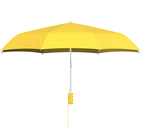 compact frame light yellow umbrella side view