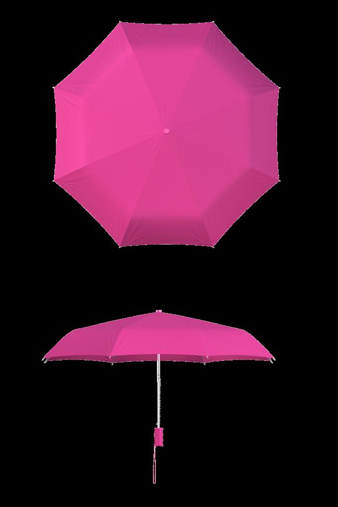 compact frame fuchsia umbrella