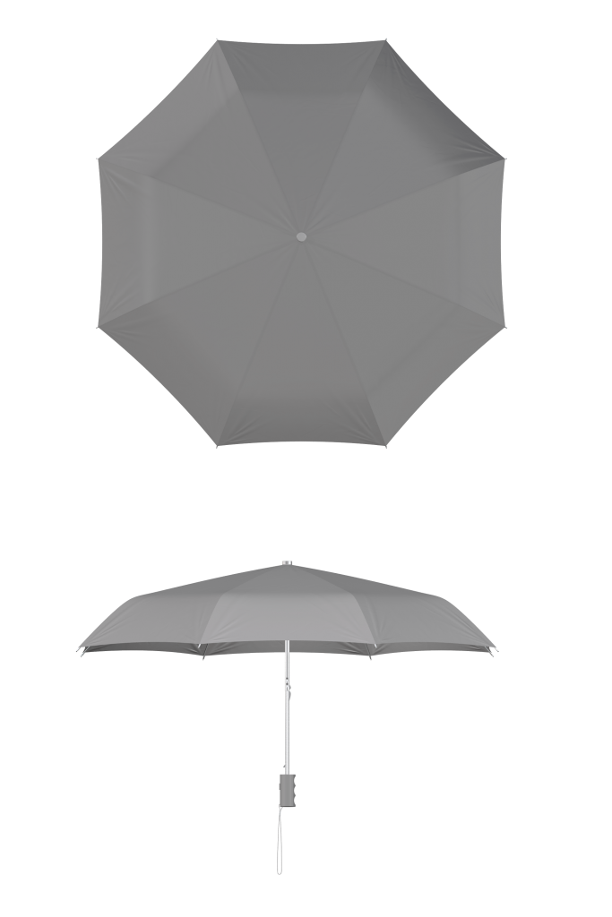 compact frame gray umbrella