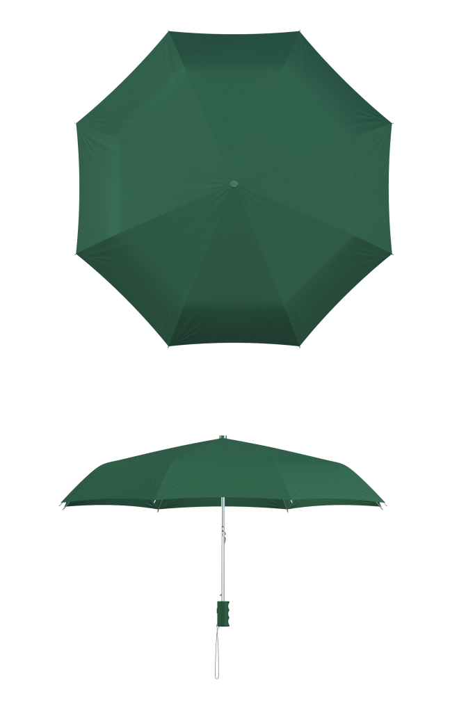 compact frame hunter green umbrella