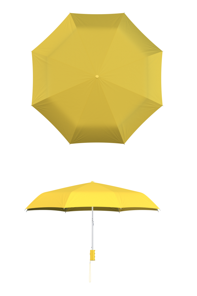 compact frame light yellow umbrella