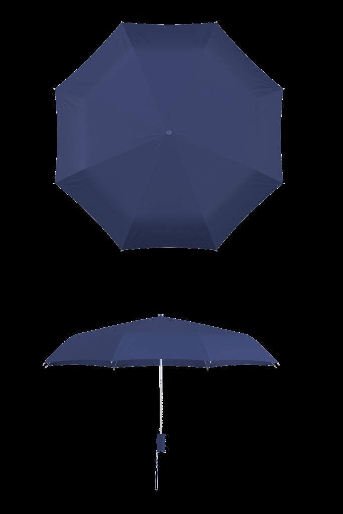 compact frame navy umbrella