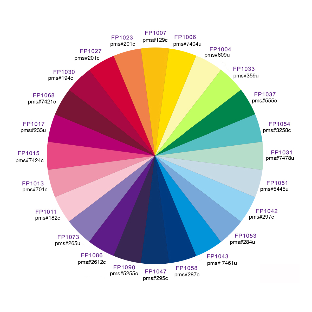 umbrella pantone colors