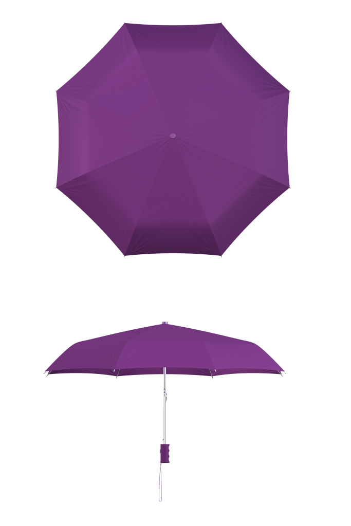 Purple Compact Umbrella