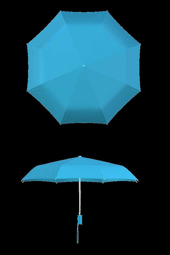 Cyan Compact Umbrella