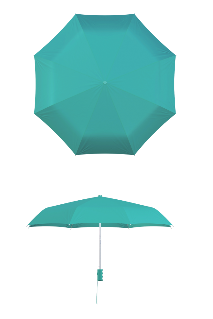 Teal Compact Umbrella