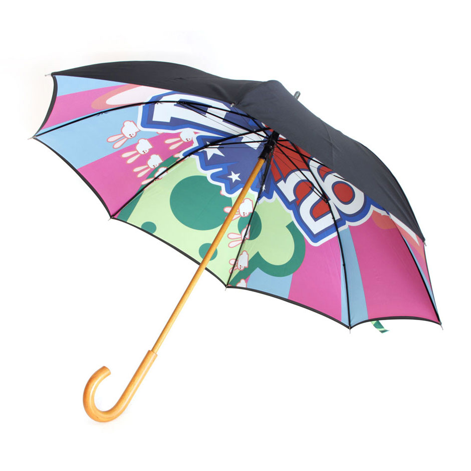Umbrella, Auto Wooden Stick Umbrella