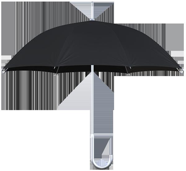 aluminum frame black umbrella side view