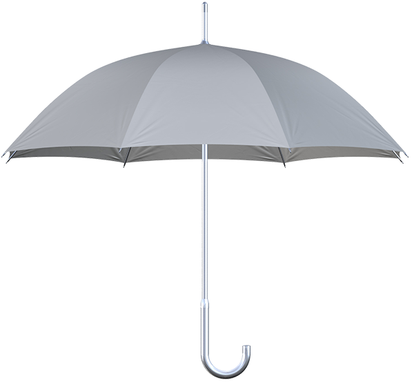 aluminum frame gray umbrella side view