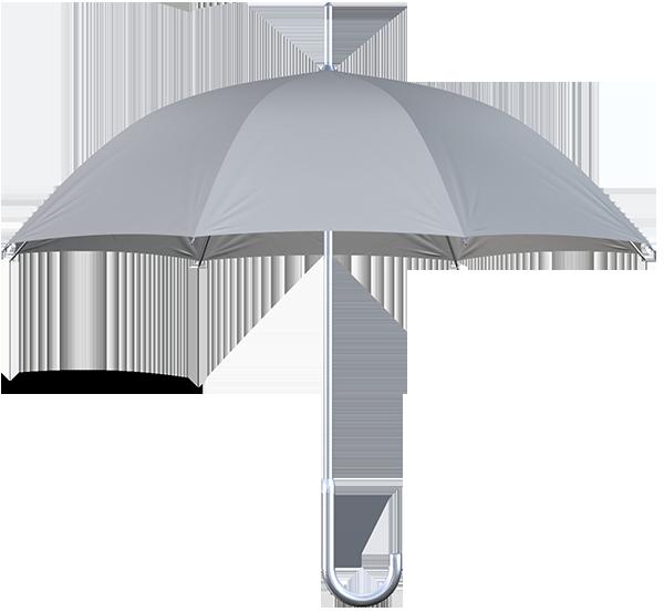 aluminum frame gray umbrella side view