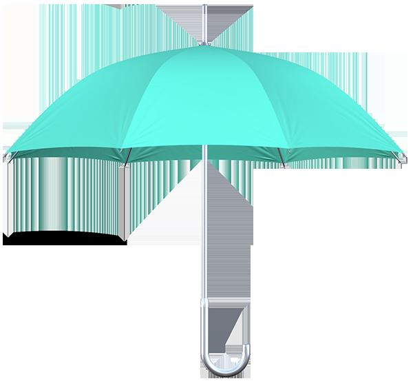 aluminum frame mint umbrellas side view
