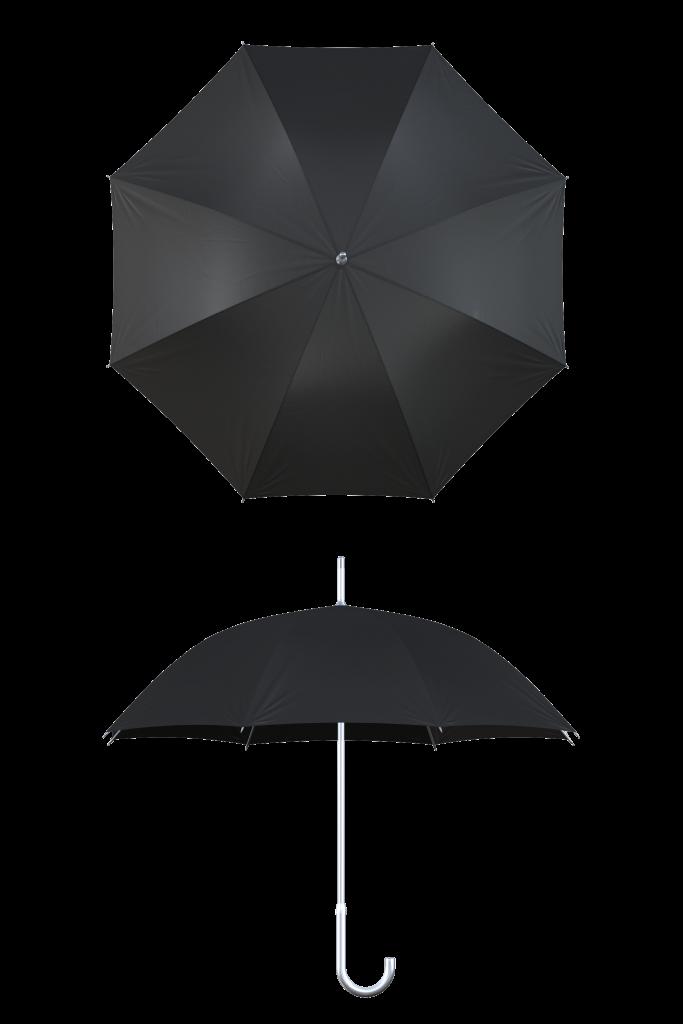 aluminum frame black umbrella