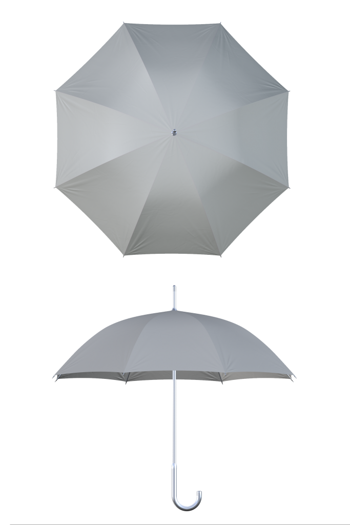 aluminum frame gray umbrella