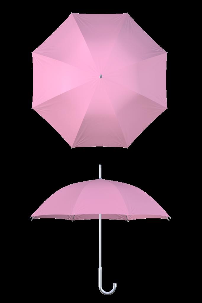 Aluminum frame pink umbrella