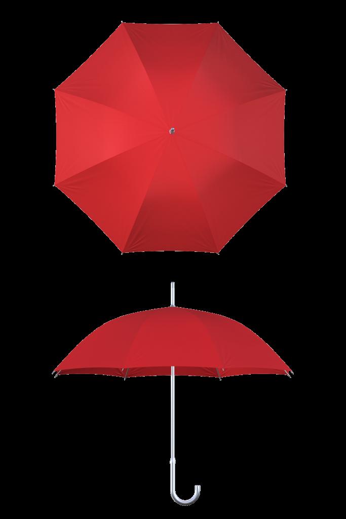 Aluminum frame red umbrella