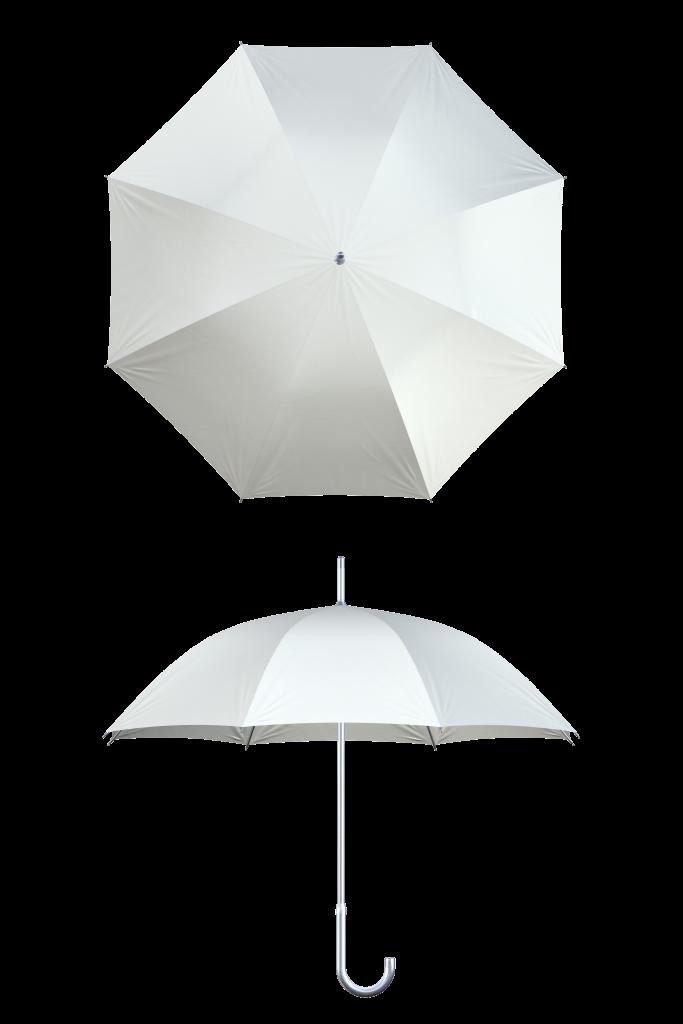 Aluminum frame white umbrella