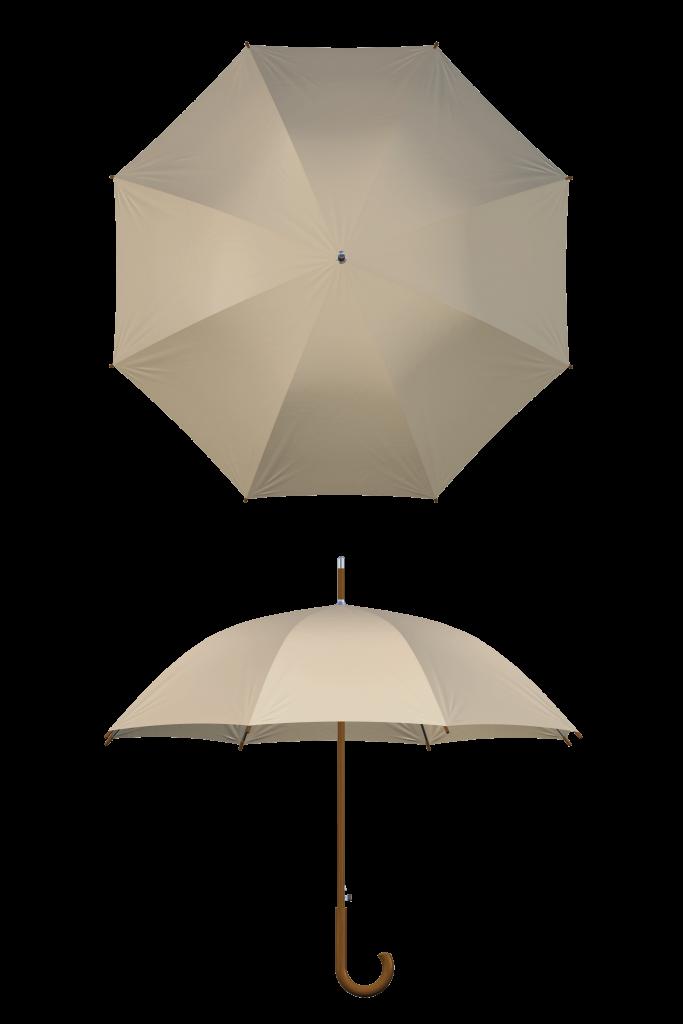 Wood frame khaki umbrella