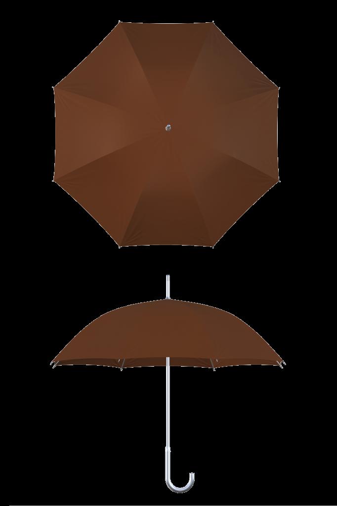 aluminum frame brown umbrella