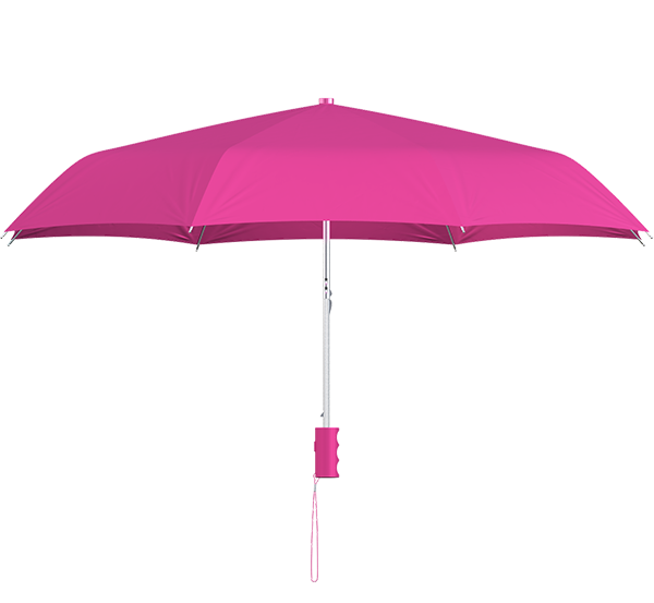 compact frame fuchsia umbrella side view