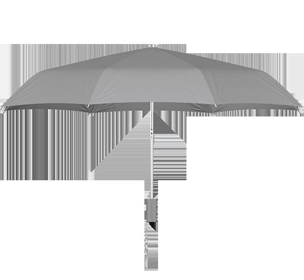 compact frame gray umbrella side view