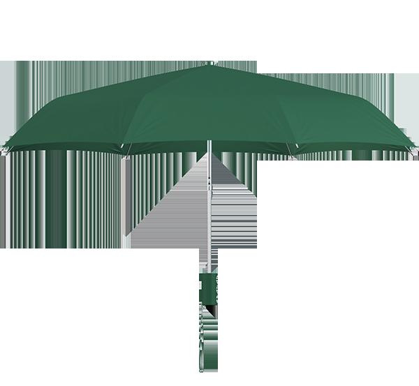 compact frame hunter green umbrella side view