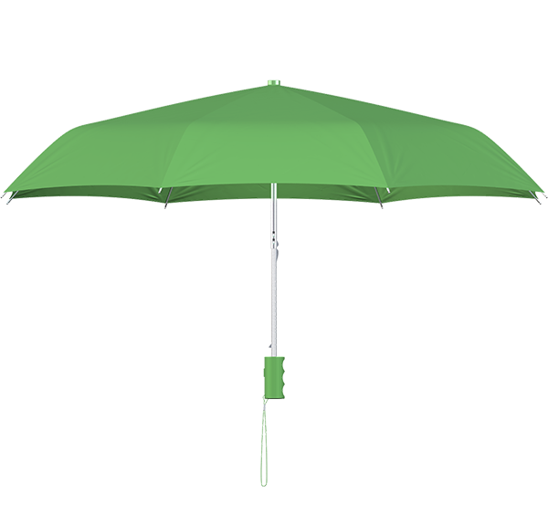 compact frame lime umbrella side view