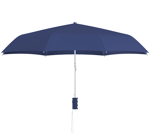 compact frame navy umbrella side view