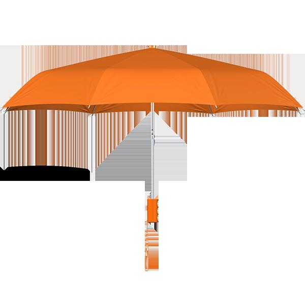 compact frame orange umbrella side view