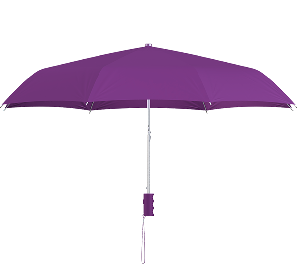 compact frame purple umbrella side view