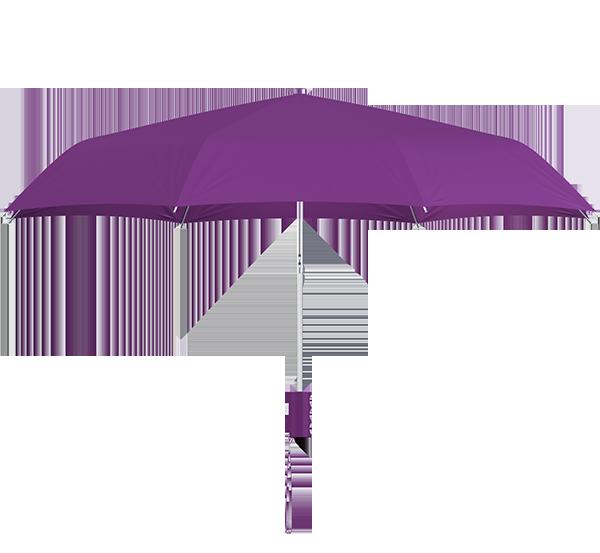 compact frame purple umbrella side view