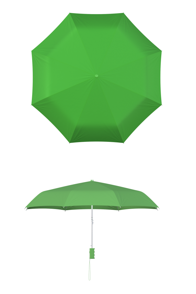 compact frame lime umbrella