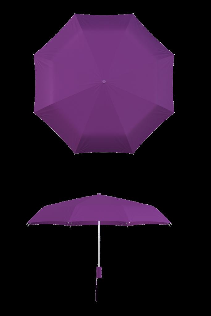 Purple Compact Umbrella